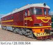 Купить «The diesel locomotive», фото № 28008964, снято 19 февраля 2018 г. (c) PantherMedia / Фотобанк Лори