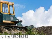 Купить «construction machine on a construction site», фото № 28018812, снято 24 марта 2019 г. (c) PantherMedia / Фотобанк Лори