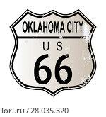 Купить «Oklahoma City Route 66 Sign», фото № 28035320, снято 16 января 2019 г. (c) PantherMedia / Фотобанк Лори