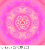 Купить «Abstract geometric seamless background. Concentric circle ornament pink, orange, violet and magenta, with laces pattern, ornate and dreamy.», фото № 28039232, снято 22 апреля 2018 г. (c) PantherMedia / Фотобанк Лори