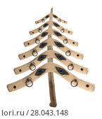 Купить «Bizarre Christmas tree from the old yoke of a piece of wood», фото № 28043148, снято 16 октября 2018 г. (c) PantherMedia / Фотобанк Лори