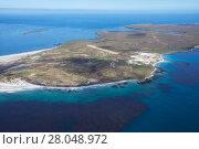 Купить «Aerial view of part of Sealion Island, Falkland Islands, December 2016.», фото № 28048972, снято 20 мая 2019 г. (c) Nature Picture Library / Фотобанк Лори