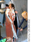 Купить «Babydoll Fashion by Micaela Schaefer - naked performance against child labor at Bikini shopping mall. Featuring: Micaela Schaefer Where: Berlin, Germany...», фото № 28049832, снято 15 августа 2016 г. (c) age Fotostock / Фотобанк Лори