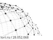 Купить «Plexus background with lines and spheres», иллюстрация № 28052068 (c) Кирилл Черезов / Фотобанк Лори