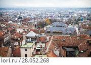Купить «Geneva, Switzerland. Cityscape old roofs», фото № 28052268, снято 26 ноября 2016 г. (c) EugeneSergeev / Фотобанк Лори