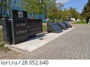 Аллея героев в Дзержинске (2012 год). Редакционное фото, фотограф Балашов Антон Владимирович / Фотобанк Лори