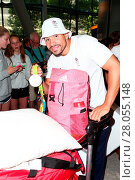 Купить «Louis Smith as Team GB arrive back at Heathrow Airport, London, after returning from Rio de Janeiro following the 2016 Summer Olympic Games. Featuring...», фото № 28055148, снято 23 августа 2016 г. (c) age Fotostock / Фотобанк Лори