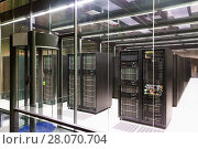 Equipment of supercomputing center. Стоковое фото, фотограф Яков Филимонов / Фотобанк Лори