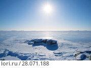 Купить «Морозный февральский день у полуострова Ханко. Финляндия», фото № 28071188, снято 24 февраля 2018 г. (c) Виктор Карасев / Фотобанк Лори