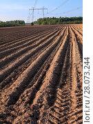 Купить «Вспаханное поле перед началом посева», фото № 28073244, снято 21 мая 2011 г. (c) Кекяляйнен Андрей / Фотобанк Лори