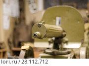 Купить «Пулемет Максима времен Гражданской войны в России», фото № 28112712, снято 7 декабря 2015 г. (c) Яковлев Сергей / Фотобанк Лори