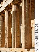 Купить «Ancient marble columns», фото № 28113136, снято 20 октября 2017 г. (c) Роман Сигаев / Фотобанк Лори