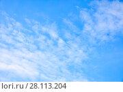 Купить «Sky with clouds - abstract background», фото № 28113204, снято 15 мая 2017 г. (c) Роман Сигаев / Фотобанк Лори