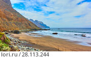 Купить «Sandy beach inTenerife», фото № 28113244, снято 9 декабря 2017 г. (c) Роман Сигаев / Фотобанк Лори
