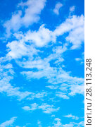 Купить «Sky with clouds», фото № 28113248, снято 6 августа 2017 г. (c) Роман Сигаев / Фотобанк Лори