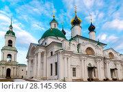 Купить «Cathedrals Spaso Yakovlevsky Monastery in a Rostov Veliky, Russia», фото № 28145968, снято 30 марта 2016 г. (c) Володина Ольга / Фотобанк Лори