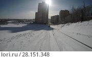 Купить «Downhill riding gopro video», видеоролик № 28151348, снято 4 марта 2018 г. (c) Гурьянов Андрей / Фотобанк Лори