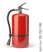 Купить «Fire extinguisher isolated on white background.», фото № 28152100, снято 17 июня 2019 г. (c) Maksym Yemelyanov / Фотобанк Лори