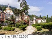 Купить «Ново-Афонский монастырь Симона Кананита. Абхазия», фото № 28152560, снято 15 июля 2004 г. (c) Евгений Ткачёв / Фотобанк Лори