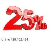 Купить «Twenty five red percent symbol. 25% percentage rate. Special offer discount.», иллюстрация № 28162424 (c) Маринченко Александр / Фотобанк Лори