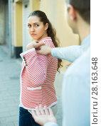 Купить «couple having bad quarrel», фото № 28163648, снято 18 октября 2018 г. (c) Яков Филимонов / Фотобанк Лори