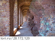 Купить «Arches of castle of Mandelieu-la Napoule near Cannes, France at sunny day», фото № 28172120, снято 28 июля 2016 г. (c) Losevsky Pavel / Фотобанк Лори