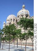 Купить «Beautiful Marseille Cathedral at summer sunny day in Marseille, France», фото № 28172232, снято 30 июля 2016 г. (c) Losevsky Pavel / Фотобанк Лори