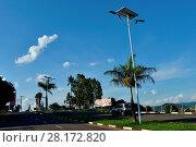 Купить «Public lighting, Jamil Nasser Highway, MG-450, 2017, Guaxupé, Minas Gerais, Brazil.», фото № 28172820, снято 9 декабря 2017 г. (c) age Fotostock / Фотобанк Лори