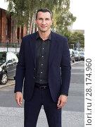 Купить «Celebrities attending the RTL press conference 2016 at REE-Location Featuring: Wladimir Klitschko Where: Hamburg, Germany When: 30 Aug 2016 Credit: Schultz-Coulon/WENN.com», фото № 28174960, снято 30 августа 2016 г. (c) age Fotostock / Фотобанк Лори