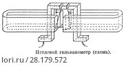 Купить «Петлевой гальванометр (схема)», иллюстрация № 28179572 (c) Макаров Алексей / Фотобанк Лори