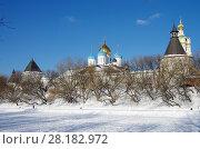 Купить «Москва, Новоспасский монастырь зимой», фото № 28182972, снято 27 февраля 2018 г. (c) Natalya Sidorova / Фотобанк Лори