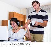 Купить «spouse cannot receive attention», фото № 28190012, снято 22 мая 2019 г. (c) Яков Филимонов / Фотобанк Лори