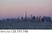 Купить «New York City Manhattan downtown skyline», видеоролик № 28191148, снято 23 марта 2015 г. (c) Matej Kastelic / Фотобанк Лори