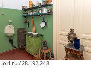 Купить «Фрагмент кухни в мемориальной квартире Анны Ахматовой в Фонтанном доме. Литейный проспект, 53Б», фото № 28192248, снято 18 августа 2017 г. (c) Pukhov K / Фотобанк Лори