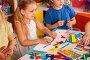 Купить «Plasticine modeling clay in children class. Teacher teaches in school.», фото № 28195172, снято 25 марта 2017 г. (c) Gennadiy Poznyakov / Фотобанк Лори