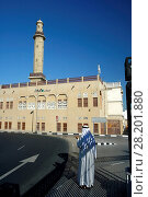 Купить «United Arab Emirates, Dubai , Dubai Deira, Creek, Asia, Promenade, Bur Dubai, The Grand mosc, prayers at the entrance», фото № 28201880, снято 19 ноября 2018 г. (c) age Fotostock / Фотобанк Лори
