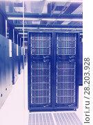 Купить «Closeup of hardware of data center», фото № 28203928, снято 15 января 2018 г. (c) Яков Филимонов / Фотобанк Лори