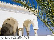 Купить «Элемент конструкции мечети на фоне неба», фото № 28204108, снято 22 января 2019 г. (c) severe / Фотобанк Лори