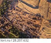 Купить «Aerial top view on Ait Ben Haddou», фото № 28207632, снято 12 февраля 2018 г. (c) Михаил Коханчиков / Фотобанк Лори