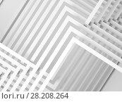 Купить «3d geometric pattern of intersected stripes», иллюстрация № 28208264 (c) EugeneSergeev / Фотобанк Лори