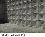 Купить «Abstract empty concrete 3d interior», иллюстрация № 28208348 (c) EugeneSergeev / Фотобанк Лори