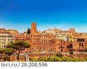 Купить «Рынок Трояна, Рим, Италия», фото № 28208596, снято 11 сентября 2017 г. (c) Наталья Волкова / Фотобанк Лори