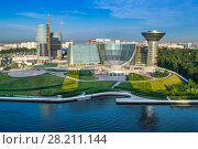 Купить «MOSCOW, RUSSIA - JUNE 7, 2014: Modern building of Moscow Region Government. Complex was built in 2004 - 2007», фото № 28211144, снято 7 июня 2014 г. (c) Losevsky Pavel / Фотобанк Лори