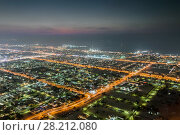 Купить «Sawta area with illumination and sea far away in resort Dubai, UAE at night», фото № 28212080, снято 8 января 2017 г. (c) Losevsky Pavel / Фотобанк Лори