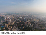 Купить «Residential area at sunny summer day, Guangzhou, China, aerial view», фото № 28212356, снято 21 августа 2015 г. (c) Losevsky Pavel / Фотобанк Лори