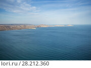 Beautiful sea, waterside, clouds and blue water at summer sunny day. Стоковое фото, фотограф Losevsky Pavel / Фотобанк Лори