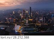 Купить «Guangzhou city in fog at beautiful summer night, aerial view, China», фото № 28212388, снято 21 августа 2015 г. (c) Losevsky Pavel / Фотобанк Лори