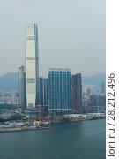 Купить «International Commerce Centre, modern highway, port on sea shore in Hong Kong, China, view from China Merchants Tower», фото № 28212496, снято 30 августа 2016 г. (c) Losevsky Pavel / Фотобанк Лори
