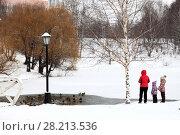 Зимующие дикие утки в Рязани (2017 год). Стоковое фото, фотограф УНА / Фотобанк Лори