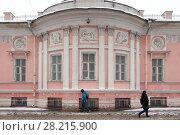 Купить «Москва,  дом 38 на улице Бауманская зимой», эксклюзивное фото № 28215900, снято 20 января 2018 г. (c) Дмитрий Неумоин / Фотобанк Лори